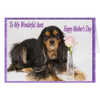 El día de madre feliz a mi tía Dog Card Felicitaciones