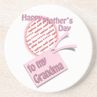 El día de madre feliz al marco de la foto de la ab posavasos personalizados
