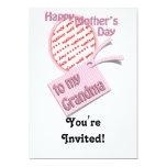 El día de madre feliz al marco de la foto de la invitación 12,7 x 17,8 cm