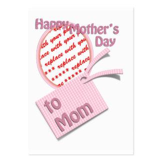 El día de madre feliz al marco de la foto de la tarjetas de visita grandes
