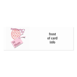 El día de madre feliz al marco de la foto de la tarjetas de visita mini