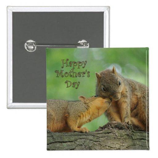 El día de madre feliz - ardilla de la mamá y del b pin