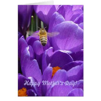 """¡El día de madre feliz! """"Azafranes y abeja de la m Felicitacion"""