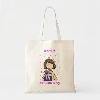 El día de madre feliz bolsa tela barata