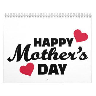 El día de madre feliz calendario de pared