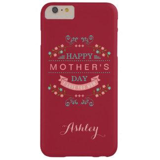 El día de madre feliz - cinta elegante elegante funda de iPhone 6 plus barely there