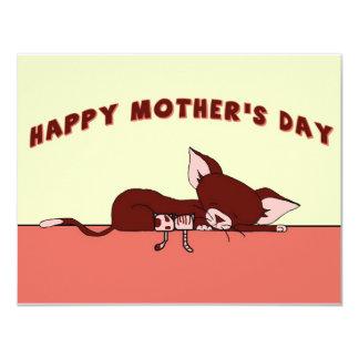 """El día de madre feliz con Rochelle la postal del Invitación 4.25"""" X 5.5"""""""