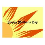 El día de madre feliz de la sol postal