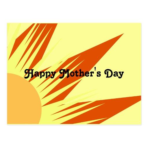 El día de madre feliz de la sol postales