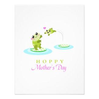 El día de madre feliz de lúpulo de la rana linda anuncios personalizados