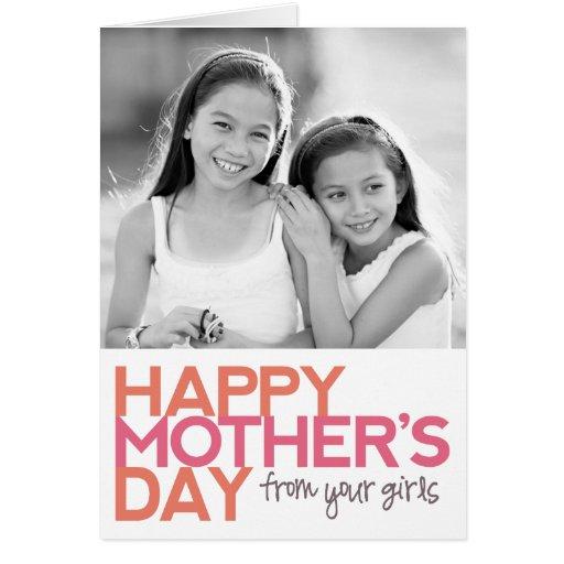 ¡El día de madre feliz de sus chicas! Tarjetas