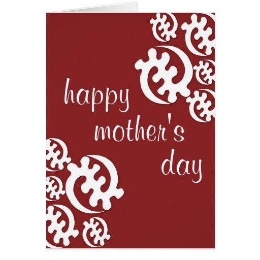 el día de madre feliz del adinkra tarjeta de felicitación