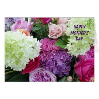 El día de madre feliz del jardín del ramo bonito d tarjetón