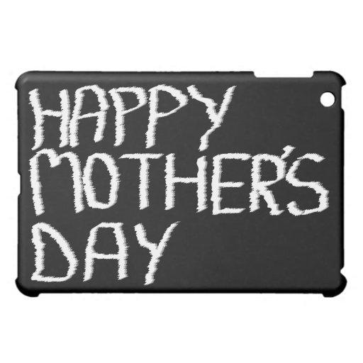 El día de madre feliz. En blanco y negro.
