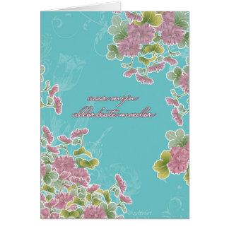El día de madre feliz en holandés, moederdag del tarjeta de felicitación