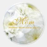 El día de madre feliz etiquetas redondas