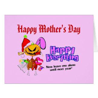 ¡El día de madre feliz, feliz todo! Tarjeta De Felicitación Grande
