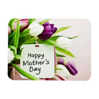 El día de madre feliz imán rectangular