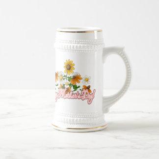 El día de madre feliz jarra de cerveza