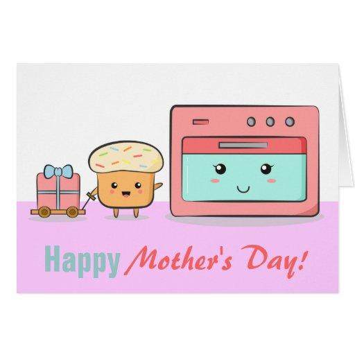 El día de madre feliz - magdalena linda y horno ro tarjetón