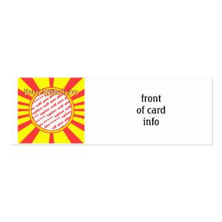 El día de madre feliz - marco retro amarillo de la tarjetas de visita mini