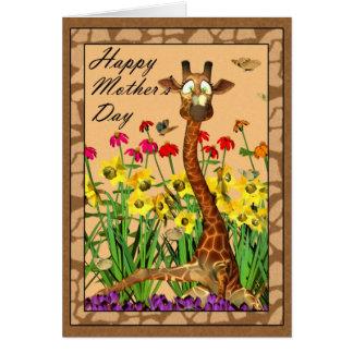 El día de madre feliz, mimando a domingo con la tarjeta de felicitación
