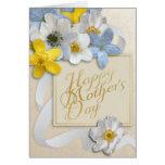 El día de madre feliz - oro, almendra, blanca