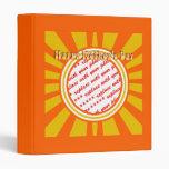 El día de madre feliz - oro/marco retro anaranjado