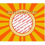 El día de madre feliz - oro/marco retro anaranjado escultura fotográfica