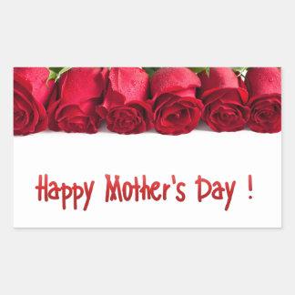 El día de madre feliz pegatina rectangular