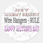 El día de madre feliz pegatina redonda