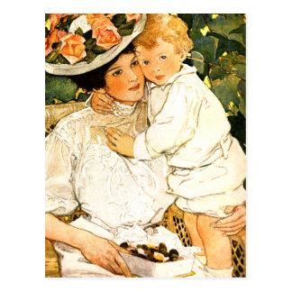El día de madre feliz. Postales del arte del