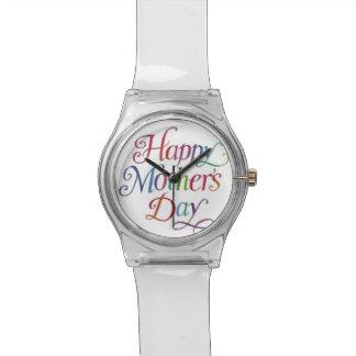 El día de madre feliz reloj