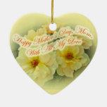 El día de madre feliz - rosas amarillos adorno de reyes