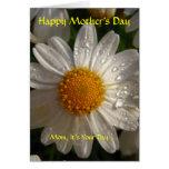 El día de madre feliz, sentimental tarjetón