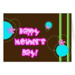El día de madre feliz, tarjeta retra 2