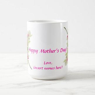 El día de madre feliz taza