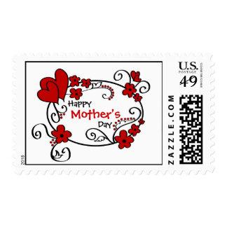 El día de madre feliz timbres postales