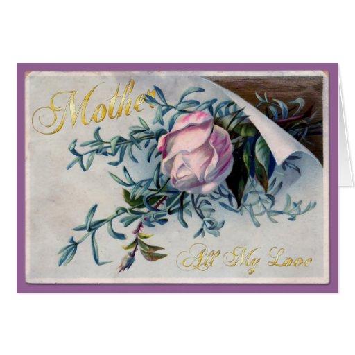 El día de madre feliz - todo mi amor - 3 tarjeton