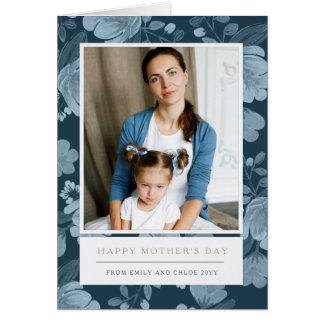 El día de madre floral de la marina de guerra tarjeta de felicitación