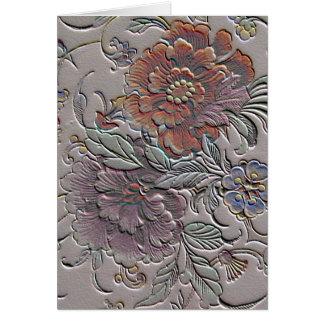 El día de madre floral del vintage tarjeton