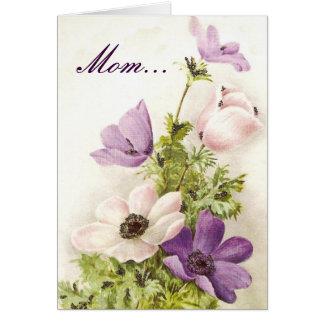 El día de madre floral felicitaciones