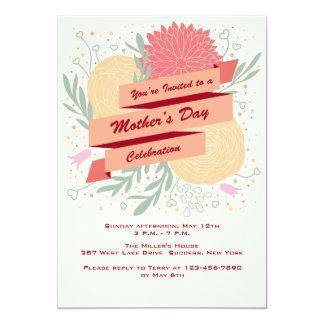 El día de madre florece la invitación