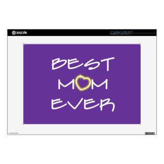 El día de madre - la mejor mamá nunca 38,1cm portátil calcomanía
