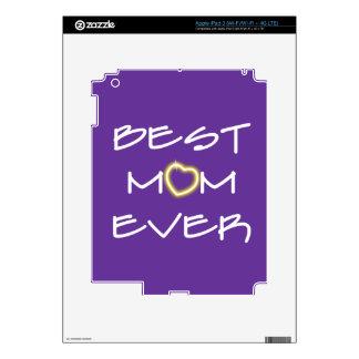 El día de madre - la mejor mamá nunca pegatinas skins para iPad 3