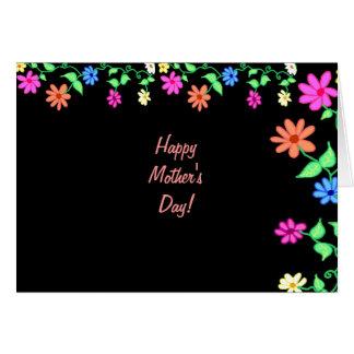 El día de madre más feliz nunca tarjeta de felicitación