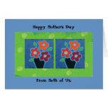 El día de madre nosotros dos tarjeta