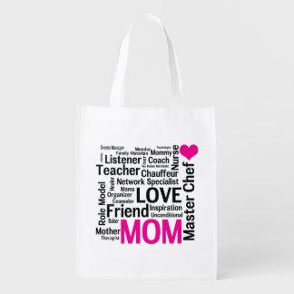 El día de madre o el cumpleaños de la mamá bolsa de la compra