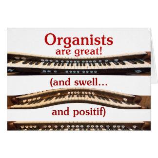 """El día de madre """"organistas es gran"""" tarjeta"""