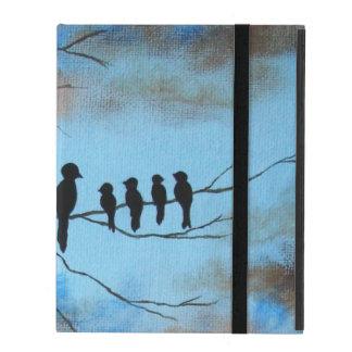 El día de madre, pájaros negros en arte abstracto